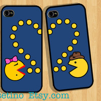 Iphone 5 Case PACMAN Couple Case Game Cartoon iPhone by Casetino