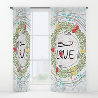 Infinite love Window Curtains by famenxt