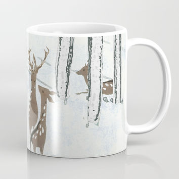 Deers in the snow Coffee Mug by anipani