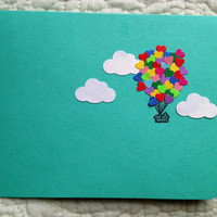 Heart Balloon House Card