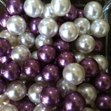 18mm Large Pearls No Hole Vase Fillers - Floating Pearl Centerpiece (60pc)