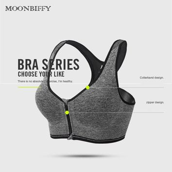 a4aad53c0b9a3 Women s Full Cup Sports Bra Anti shake Vest style Good Elastic Athletic Bras  GYM Fitness Running