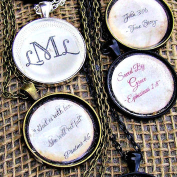 "Quote or monogram of your choice put under 1"" magnifying glass dome. Thoughtful gift for wife, teacher, daycare, sister, mother"