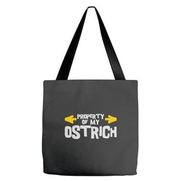 property of my ostrich Tote Bags