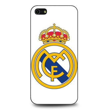 real madrid fc logo cover white iPhone 5 | 5S Case