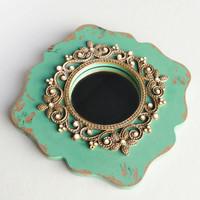 Vintage Pearls Small Decorative Mirror