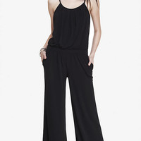 WIDE LEG CAMI HALTER JUMPSUIT from EXPRESS