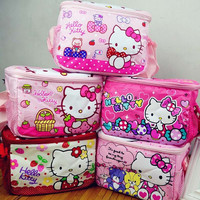 Hello Kitty Waterproof Thermal Cooler Insulated Lunch Storage Bag kid lunch boxes Outdoor student Food Container mother baby bag