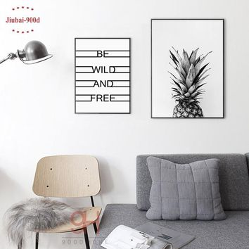 Beautiful 900D Posters And Prints Wall Art Pineapple