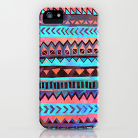 PATTERN {Tribal Stripe- Aqua} iPhone & iPod Case by Schatzi Brown