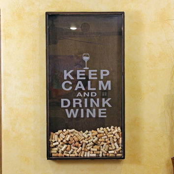 25x45 Wine Cork Holder Wall Decor Art - from organikcreative on