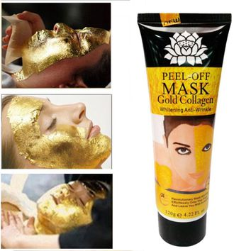 24K Gold Collagen Peel off Mask Face Whitening Lifting Firming Skin Anti Wrinkle Mask