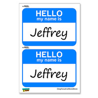 Jeffrey Hello My Name Is - Sheet of 2 Stickers