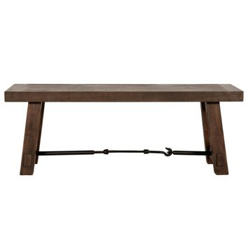 Carter Dining Bench Rustic Java