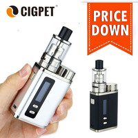 Original Cigpet Ant 80W TC Starter Kit 80W Vape Mods TC Box Mod Kit w/Ant Atomizer 3ml ecigarette vaporizer vs Eleaf Istick pico