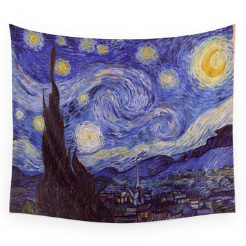 Society6 Vincent Van Gogh Starry Night Wall Tapestry