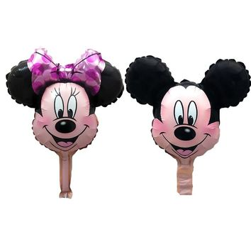 10pcs/lot mini Minnie Mickey mouse head balloon Birthday Party Wedding baby shower decorations children's toys globos