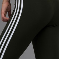 Adidas 3 Stripes Leggings in Night Cargo