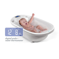 Aqua Scale 3-in-1 Infant Bathtub, Scale & Water Thermometer - White
