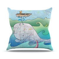 """Catherine Holcombe """"I'm on a Boat"""" Throw Pillow, 16"""" x 16"""" - Outlet Item"""