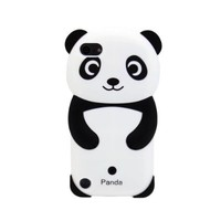 Accmart Panda Silicone Jelly Skin Cover Case Black For Apple Ipod Touch 5 5th Generation