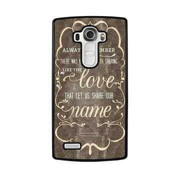 THE AVETT BROTHERS QUOTES LG G4 Case Cover