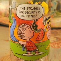 Vintage 1965 Camp Snoopy Collection Glass Made for McDonalds - Great Advertising Collectible