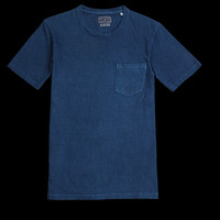 UNIONMADE - BLUE BLUE JAPAN - Short Sleeve Tee with Pocket in Indigo