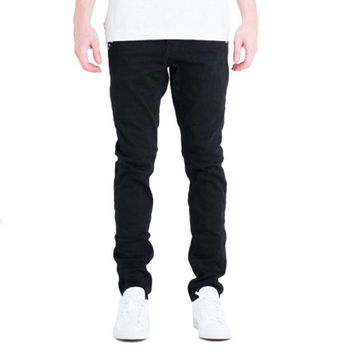 ONETOW Embellish NYC Rock Denim Jeans In Black