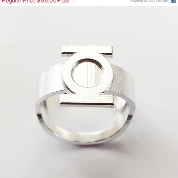 Green Lantern Ring - Bottle Opener band or regular - Precious Metal option - Comic Geek gift