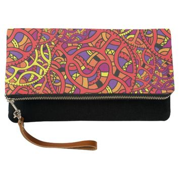 Colorful Organic Pattern Clutch