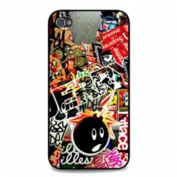 Sticker Bomb Supreme and illest for iphone 4 and 4s case