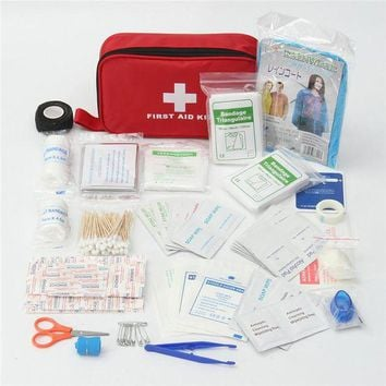 ONETOW 180pcs/pack Safe Outdoor Wilderness Survival Travel First Aid Kit Camping Hiking Medical Emergency Treatment Pack Set