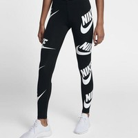 """NIKE"" Fashion Women Casual Print Gym Sport Stretch Pants Trousers Sweatpants"
