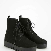 Jeffrey Campbell Sakura Lace-Up Flatform Ankle Boot- Black