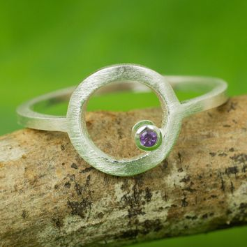 Amethyst cocktail ring, 'Gazing at the Moon'