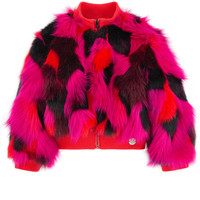Kenzo Kids Multi Faux Fur Jacket *RENTAL*