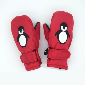 1-7years Good Quality Baby Mitten For Winter Kids Boys Girls Outdoor Warm Gloves Waterproof Windproof