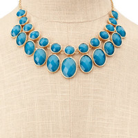 Charlotte Russe - Blue Stone Collar Necklace