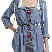 Hooded Chambray Buttondown