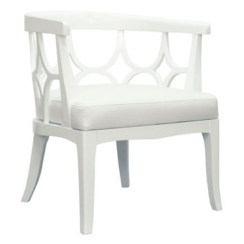 Campbell Chair White Green by World's Away