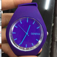 Designer's Awesome Good Price Gift New Arrival Trendy Great Deal 15-color Hollow Out Silicone Stylish Watch [6049416961]