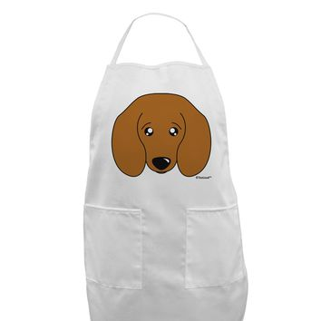 Cute Doxie Dachshund Dog Adult Apron by TooLoud
