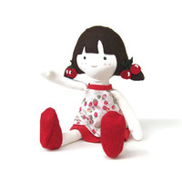 "INSTANT DOWNLOAD 16"" Cherry Doll and Doll Clothes PDF Pattern and Sewing Instruction"