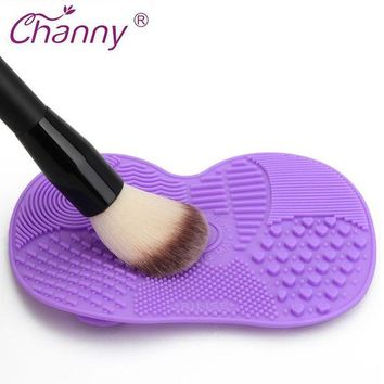 LMFEB2 Silicone Brush Cleaner Mat Washing Tools for Cosmetic Make up Eyebrow Brushes Cleaning Pad Scrubber Board Makeup Cleaner