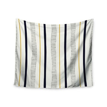 "Laurie Baars ""Textured Stripes"" Abstract Lines Wall Tapestry"