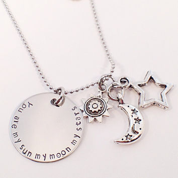 My Sun Moon and Stars Necklace