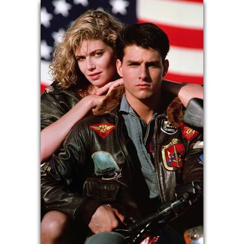S2250 Top Gun Retro Vintage Movie Wall Art Painting Print On Silk Canvas Poster Home Decoration