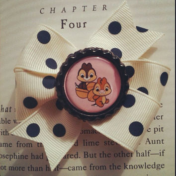 Chip n Dale Baby Hair Bow/ Disney bow