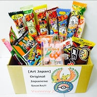 "Assorted Japanese Junk Food Snack ""Dagashi"" Economical 34 Packs of 27 Types"